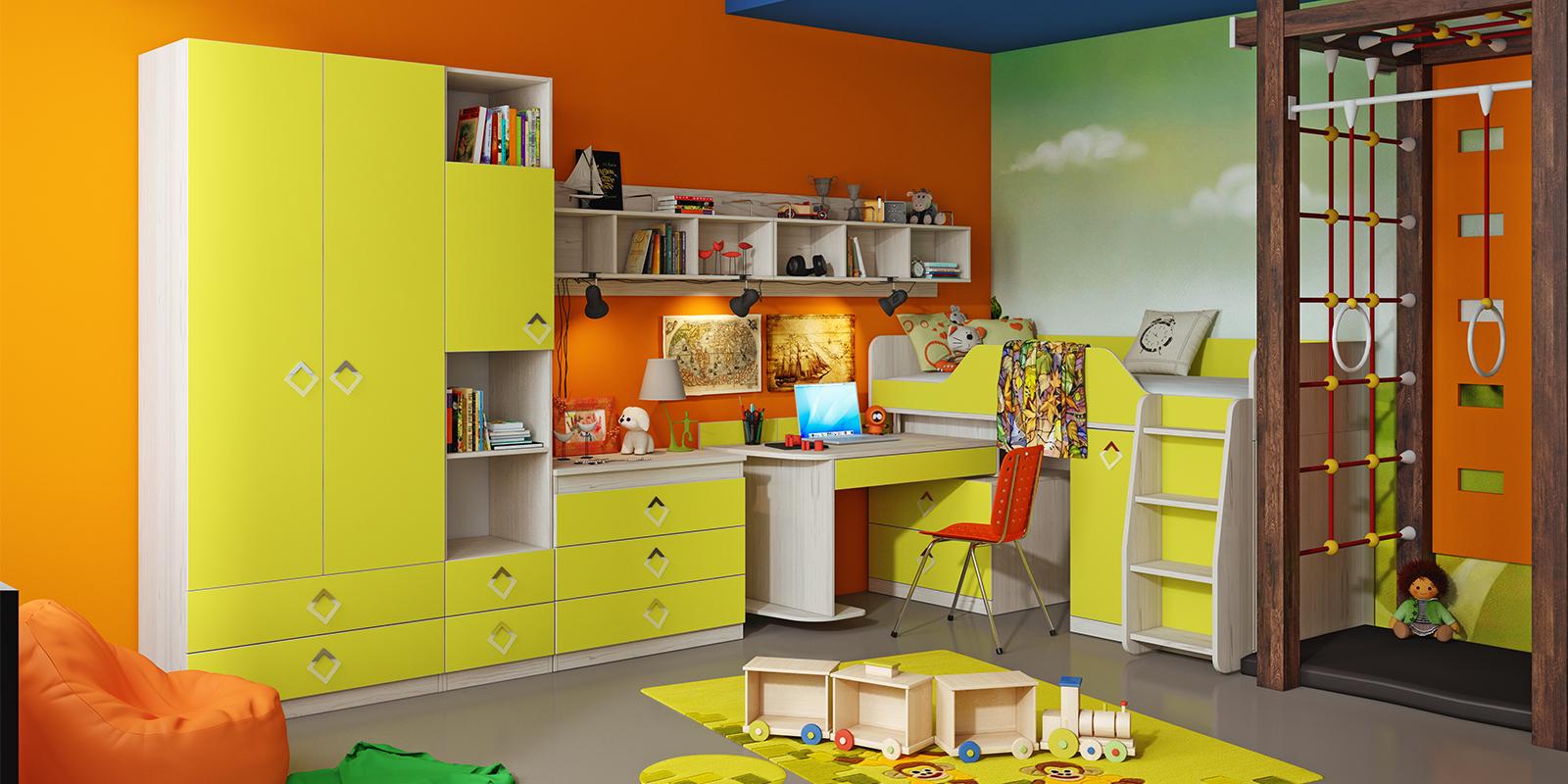 "Детская комната ""лайм""."